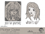 "Plotter-Datei ""comic girlie"" No3"