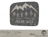 """Plotter-Datei """"feel wild"""" #3"""