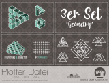 """Plotter-Datei """"geometry"""" (3er-Set)"""