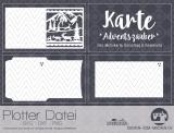 "Plotter-Datei ""Karte Adventszauber inkl. Umschlag"""