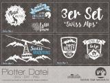 "Plotter-Datei ""Swiss Alps"" (3er-Set)"