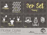 """Plotter-Datei """"bunny"""" (3er-Set)"""