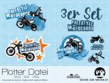 """Plotter-Datei """"Freestyle Motocross"""" (3er-Set)"""