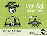 """Plotter-Datei """"football forever"""" (3er-Set)"""