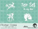 "Plotter-Datei ""oh my deer"" (3er-Set)"