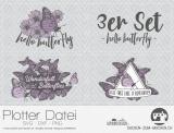 "Plotter-Datei ""hello butterfly"" (3er-Set)"
