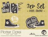 "Plotter-Datei ""cool shoes"" (3er-Set)"