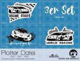 "Plotter-Datei ""race car"" (3er-Set)"