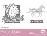 "Plotter-Datei ""Pferdeglück #1"""
