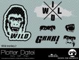 """Plotter-Datei """"wild monkey #2"""""""