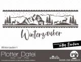 "Plotter-Datei ""Winterzauber"" #1"