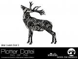 """Plotter-Datei """"deer sweet deer"""" No2"""
