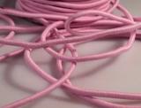 Gummikordel rund Ø3mm / rosa