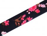 "Gummiband 27mm ""pink-flowers"""