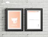 """Postkarte """"Katze mit Herz"""""""