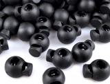 10 St. Kordelstopper rund 15x20mm - schwarz