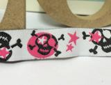"""Webband """"skulls-pink"""""""